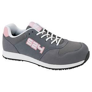 Chaussures de sécurité basses femmes S24 Wallaby S1P - gris/rose - pointure 38