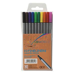 Fineliner Colourworld, förp. med 10 färger