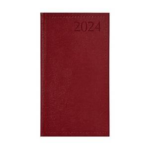 Traditional álló heti zsebnaptár - bordó, 9,5 x 17 cm, 144 oldal