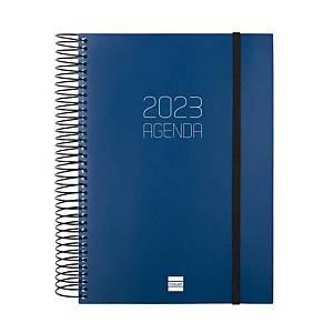 Agenda Finocam Opaque - día página - 155 x 212 mm - azul