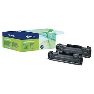 Cartouche de toner Lyreco compatible équivalent HP 85A - CE285AD noire pack de 2