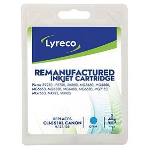Lyreco inkcatridge Canon CLI 551XL blue [15 ml]