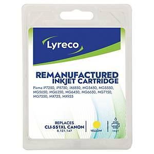 Lyreco remanufactured Canon inkt cartridge CLI-551XL, geel