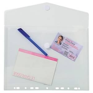 Exacompta geperforeerde PP enveloppen, A4, transparant, per 5 stuks