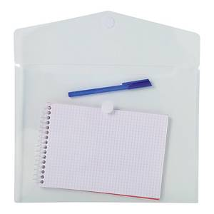 Exacompta Translucent Polypropylene A4 Envelope Wallets, Clear - Pack 5