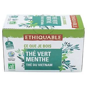 Thé vert menthe bio Ethiquable - 20 sachets fraîcheur
