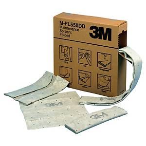 Industriebindevlies 3M M-F2001, Aufnahmevolumen 110 l, 120mmx15,2m, Pk. à 3 Stk.