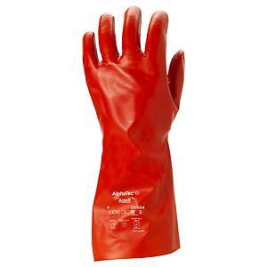 Guanti protezione chimica Ansell AlphaTec 15-554 rosso tg 9