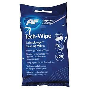 AF Tech-Wipe kuitukangasliina mobiililaitteille, 1 kpl=25 liinaa