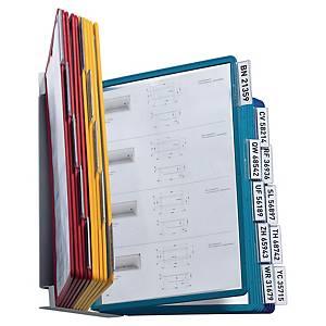 Wandsichttafelsystem Durable Vario, inkl. 20 Sichttafeln, assortiert