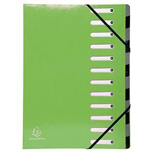 Exacompta Iderama trieur avec 12 touches vert