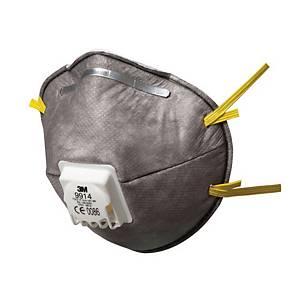 3M™ 9914 stofmasker tegen hinderlijke geuren met uitademventiel, pak van 10