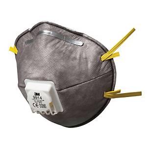 Respirátor s ventilem 3M™ 9914, FFP1, 10 kusů