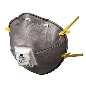 Respiratore a conchiglia 3M 9914 con carboni attivi FFP1 con valvola - conf. 10