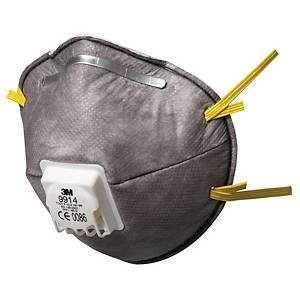 Caixa de 10 máscaras descartáveis 3M 9914 - FFP1 - moldadas com válvula