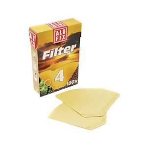 Kávové filtre Alufix veľkosť č. 4, 100 ks