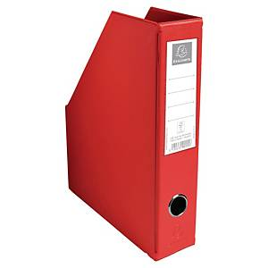 Exacompta PVC Flat-Packed Magazine Files, 70mm Spine, Red