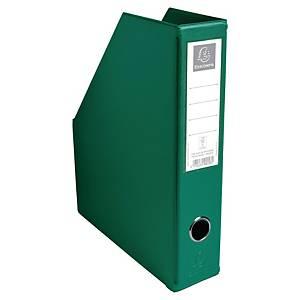 Exacompta PVC Flat-Packed Magazine Files, 70mm Spine, Dark Green