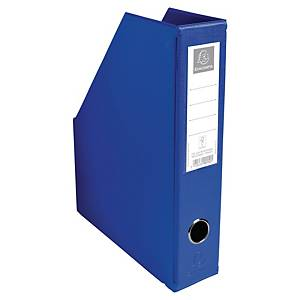 Exacompta PVC Flat-Packed Magazine Files, 70mm Spine, Dark Blue