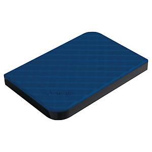 Verbatim 2, 5  USB tragbare externe Festplatte, blau, 1 TB
