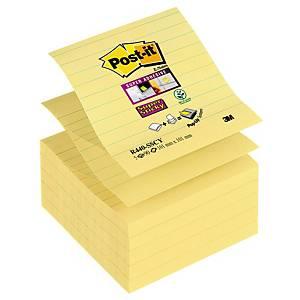 Post-it Super Sticky viestilappu 101x101mm viivoitettu kelt., 1 kpl=5 nidettä
