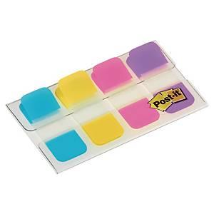 Post-it® Index Strong tabs, dispenser met 4 kleuren, 15,8 x 38,1mm, 4 x 10 tabs