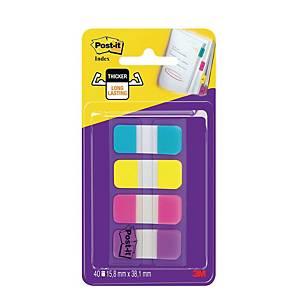 Zakładki Post-it® STRONG, 4 neonowe kolory, w opakowaniu 40 sztuk