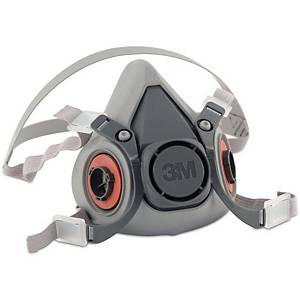 3M 6100 Half Mask Thermoplastic Small Grey