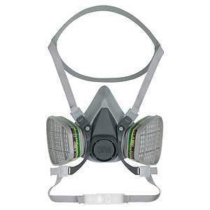 3M 6300 Half Mask Thermoplastic Large Grey