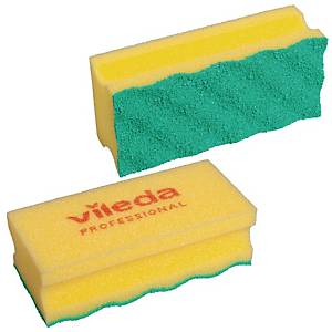 Svamp Vileda Puractive, gul, pakke a 10 stk.