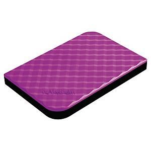 Disque dur externe Verbatim - USB 3.0 - 1 To - 2,5  - violet