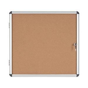 Vitrina para interior con puerta batiente Bi-Office - corcho - 6 hojas A4