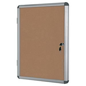 Vitrine para interior com porta de batente Bi-Office - cortiça - 9 folhas A4
