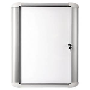 Vitrina para exterior con puerta batiente Bi-Office - magnética - 9 hojas A4