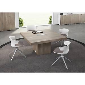 Table carrée Quadrifoglio T45 - L 140 cm - orme