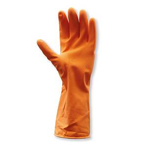 PARAGON AMS-3861D111-302 GLOVES LATEX PAIR LARGE ORANGE