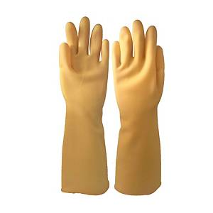 MASTER GLOVE ถุงมือยางธรรมชาติ STRONG MAN ยาว 16 นิ้ว 1 คู่