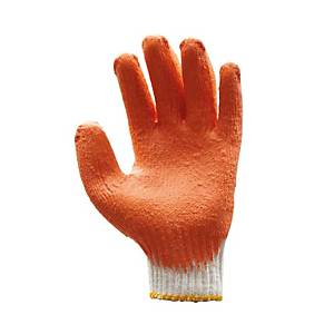 MICROTEX ถุงมือ FD442-472 ลาเท็กซ์ FREE SIZE ส้ม คู่