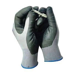 MICROTEX ถุงมือ FD324-352 ไนไตรล์ ไนลอน L เทา 1 คู่