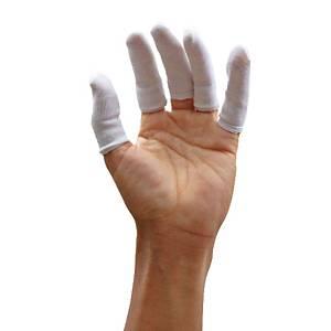 ถุงนิ้ว ทีซี ขาว แพ็ค 100