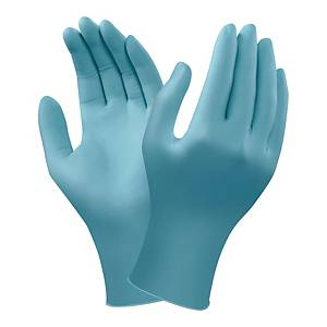 Rękawice Ansell Touchntuff 92-670, Rozmiar m, niebieskie, opakowanie 100 sztuk