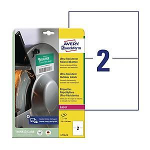 Etykiety polietylenowe Ultra Resistant AVERY ZWECKFORM 210 x 148 mm, białe*