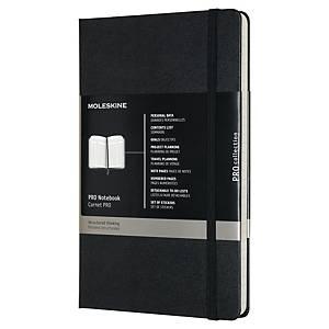 Moleskine muistikirja Professional kovakantinen 13x21cm viivoitettu musta