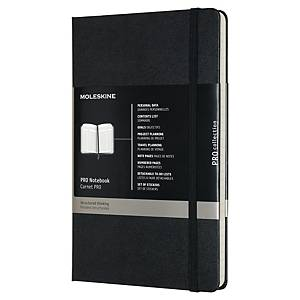 MOLESKINE PROFESSIONAL HARD COVER NOTEBOOK LARGE RULED BLK