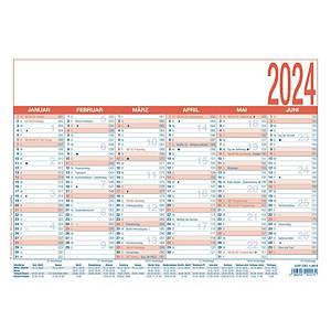 Tafelkalender 2021 Zettler 910, 6 Monate / 1 Seite, A4