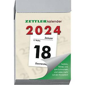 Tagesabreißkalender 2020 Zettler 301, 1 Tag / 1 Seite, 4 x 6 cm, schwarz/rot