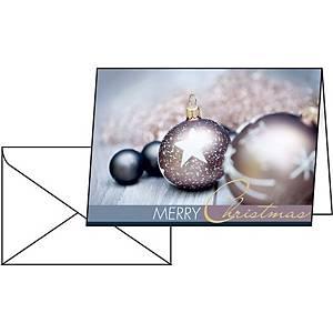 Weihnachtskarten Sigel A6, Pack à 25 Stück, englisch