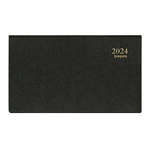Agenda de poche Brepols Omniplan 738 avec couverture Genova, noir