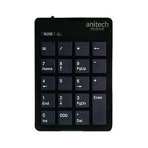 ANITECH N180 NUMERIC KEYPAD WITH USB EXTENDABLE LINE BLACK