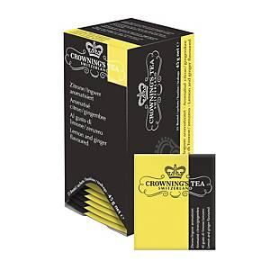 Sachets de thé citron/gingembre Crowning s, paq. 25unités
